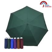 《【Kasan晴雨傘】》輕量五折銀膠遮陽傘(墨綠)