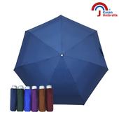 《【Kasan晴雨傘】》輕量五折銀膠遮陽傘(深藍)