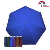 《【Kasan晴雨傘】》輕量五折銀膠遮陽傘(靛藍)