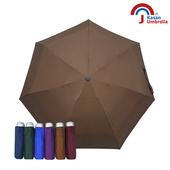 《【Kasan晴雨傘】》輕量五折銀膠遮陽傘(咖啡)
