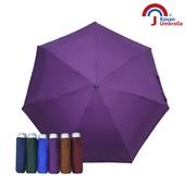 《【Kasan晴雨傘】》輕量五折銀膠遮陽傘(深紫)