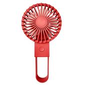 簡約折疊 USB充電風扇 手持風扇 桌扇4.5*8*11CM(紅色)