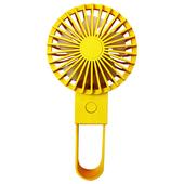 簡約折疊 USB充電風扇 手持風扇 桌扇4.5*8*11CM(黃色)