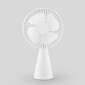 簡約便攜 台式風扇 USB充電 桌扇(白色)