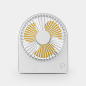 圓形便攜台式風扇 USB充電風扇 桌扇(白色)