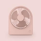 圓形便攜台式風扇 USB充電風扇 桌扇(粉色)