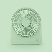 圓形便攜台式風扇 USB充電風扇 桌扇(綠色)