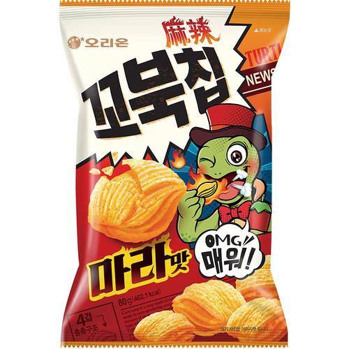 《好麗友》烏龜玉米脆片-麻辣味(80g)