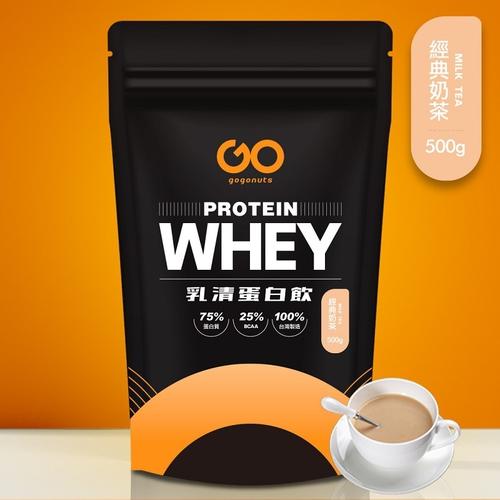 《果果堅果》濃縮乳清蛋白飲(500g/袋 經典奶茶)