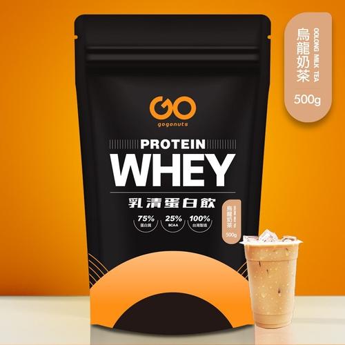 《果果堅果》濃縮乳清蛋白飲(500g/袋 烏龍奶茶)