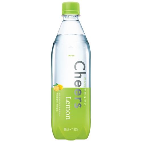 《泰山》Cheers Lemon 檸檬氣泡水(590ml*4瓶/組)