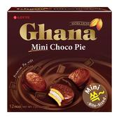 《LOTTE》迷你加納巧克力派-12顆裝(204g)