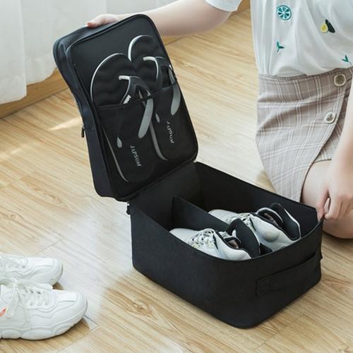 便攜乾濕分離鞋子收納袋(灰 34.5X26X21cm)