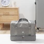 多功能乾濕分離旅行袋(灰 39X17X28cm)