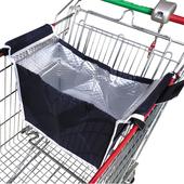 多功能推車保溫保冷購物袋(藍色)(37X25X35cm)