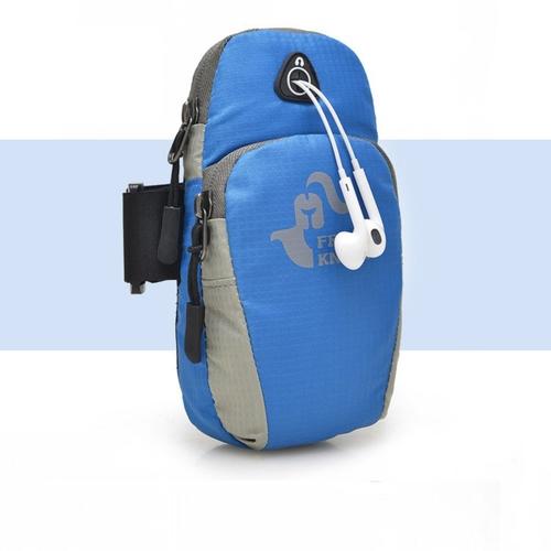 透氣運動手臂包(藍 18X5X9cm)