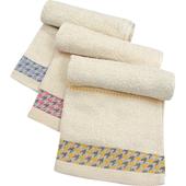 《TELITA》千鳥紋無染系列毛巾3入