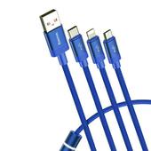 《Baseus 倍思》數據派全數據一拖三數據線藍色 $249