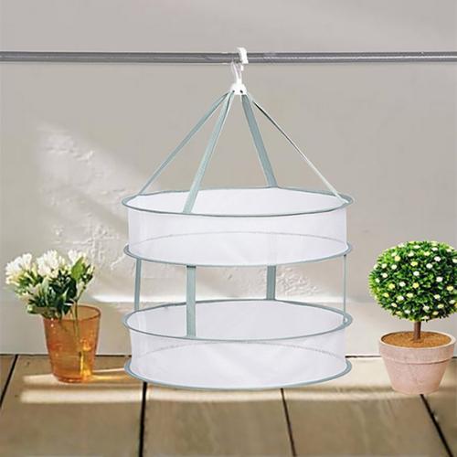 可折疊雙層防風晾曬籃(80X45cm)