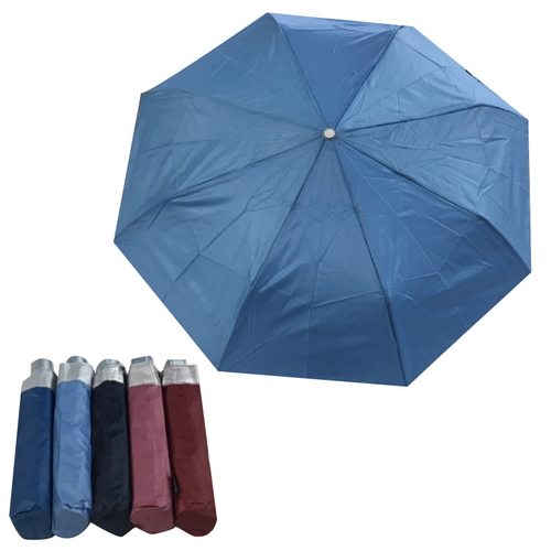 《抗UV》三折銀膠素色超迷你傘 2556 顏色隨機出貨(53cm x 8K)