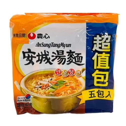 《農心》安城湯麵5入超值包(625g)