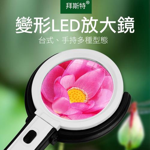 《免手持》LED放大鏡 可折疊 可直立 追劇 電池(28X17.5cm)