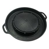 《韓式》麥飯石烘蛋雙層燒烤盤 烤肉 圓形(直徑38cm)