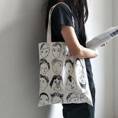 《韓版》插畫帆布袋(34 x 39cm)