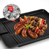 《韓式》麥飯石濾油兩用煎烤盤 烤肉/煎肉/適用電磁爐/燃氣灶(32X26cm)