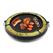 《韓式》麥飯石起司雞蛋分隔燒烤盤 圓形烘蛋盤 烤肉(38CM)