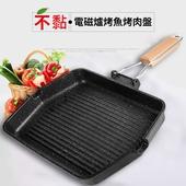 《韓式》麥飯石折疊燒烤盤 烤肉 不沾 適用電磁爐(37X27cm)