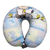 《史奴比》粒子頸枕 30*30cm U枕 車用枕 靠枕 靠墊 飛機枕深藍 $189