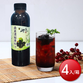 《老農手摘》桑葚濃縮果粒汁(600g/罐*4)