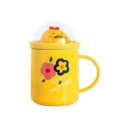 動物微景帶蓋馬克杯  款式隨機  咖啡杯 牛奶杯 茶水杯(400ml)