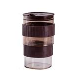 便攜防燙咖啡同心杯-棕色13.4X7.7cm $499