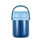 《DILLER》大容量316不鏽鋼分層保溫提罐1.6L(藍)