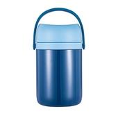 《DILLER》大容量316不鏽鋼分層保溫提罐1.9L(藍)