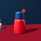花語迷你口袋304不鏽鋼保溫杯250ml(紅)
