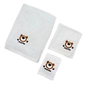 《MORINO》素色貼布繡毛巾 灰(33x76cm,448gm/m2(±5%))