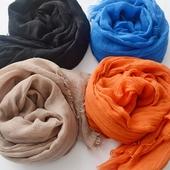 純色棉麻圍巾-200X120cm(卡其)