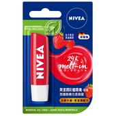 《妮維雅》果漾潤彩蜜唇膏草莓(4.8g)