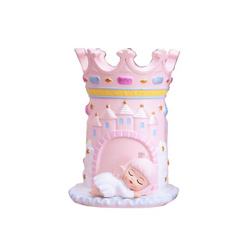 夢幻少女城堡筆筒10.2X12.5X9cm(粉色天使)