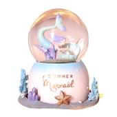 美人魚水晶球音樂盒(10X10X15cm)