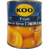 《KOO口蜜牌》水蜜桃罐頭(825g/罐)