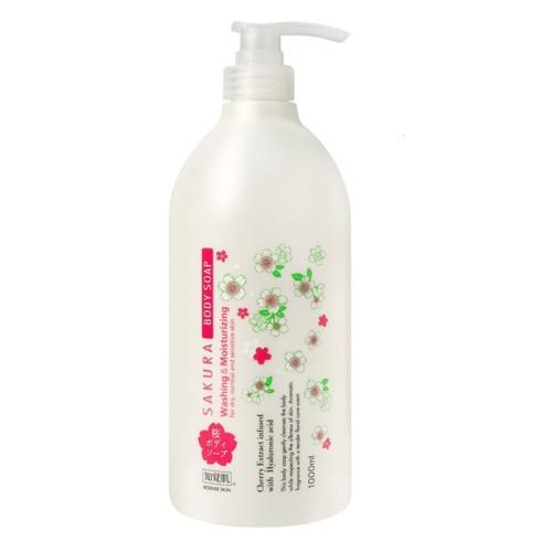 《日本熊野》知覺肌櫻花萃取精華玻尿酸沐浴乳(1000ml/瓶)