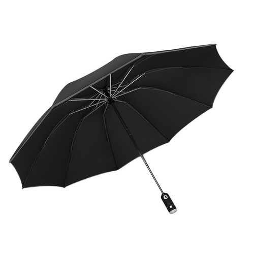 手電筒全自動反向傘(黑)