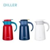 《DILLER》臻享生活316不鏽鋼保溫壺1.2L(紅)
