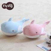 變形鯨魚多功能兩用護頸枕(藍鯨魚)