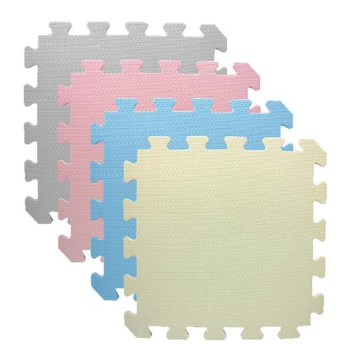 《EVA》無毒巧拼地墊-6入 顏色隨機(32x32x1cm)