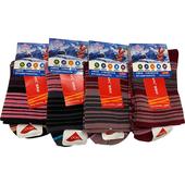 《女人物》發熱紗寬口女襪(彩條)9075  顏色隨機20-24CM $55